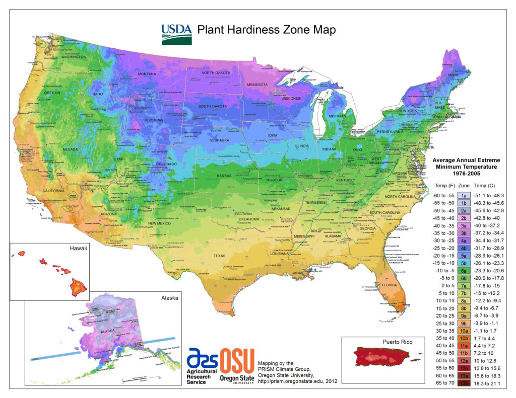 Find My USDA Cold Hardiness Zone
